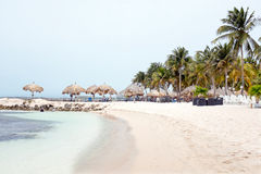 Palm Beach at Aruba island. In the Caribbean Sea Royalty Free Stock Photography