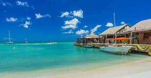 Palm beach at Aruba island Stock Images