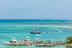 Palm Beach at Aruba. View from Hotel Royalty Free Stock Photography