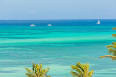 Palm Beach at Aruba. View from Hotel Stock Photography