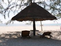 Palm Beach bås med två stolar Arkivbild