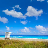 Palm Beach beach baywatch tower in Florida Royalty Free Stock Images