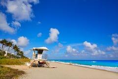 Palm Beach beach baywatch tower in Florida Royalty Free Stock Photo