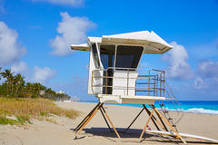 Palm Beach beach baywatch tower in Florida Stock Images