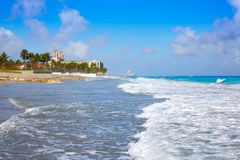 Palm Beach beach coastline Florida US Royalty Free Stock Photos