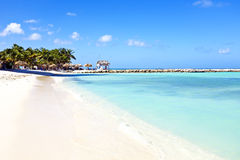 Palm Beach bei Aruba Stockbild