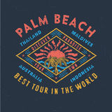 PALM BEACH BEST TOUR IN THE WORLD. vector illustration