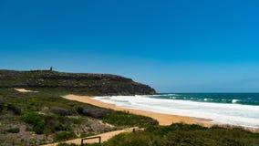 Palm Beach cerca de Sydney en un día de veranos caliente foto de archivo libre de regalías