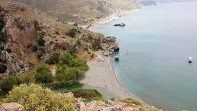 Palm Beach crete Grekland stock video