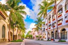 Palm Beach da avenida do valor fotos de stock