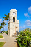 Palm Beach digno de la torre de reloj de la avenida la Florida Imágenes de archivo libres de regalías