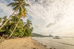 Palm Beach, EL Nido, as Filipinas Imagem de Stock Royalty Free