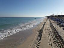 Palm Beach em Santa Maria del Mar, Cuba foto de stock royalty free