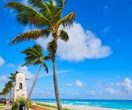 Palm Beach en valeur la tour d'horloge d'avenue la Floride Photos libres de droits