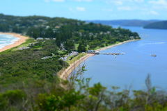 Palm Beach Ferry Wharf from Barrenjoey Lighthouse Royalty Free Stock Photography