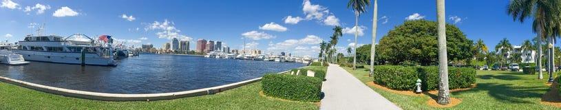 PALM BEACH, FL - FEBBRAIO 2016: Vista panoramica del documento del Palm Beach Immagini Stock Libere da Diritti
