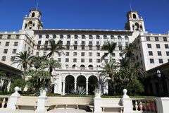 The Breakers Palm Beach historic hotel. PALM BEACH, FLORIDA - MARCH 21, 2018: The Breakers Palm Beach historic hotel. The Breakers Palm Beach is a historic, 538 Royalty Free Stock Photos