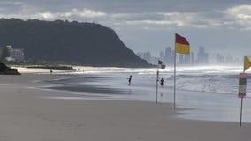 Palm Beach, Gold Coast QLD, Αυστραλία, αμέσως μετά από την αυγή απόθεμα βίντεο