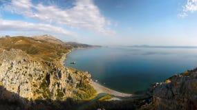 Palm Beach Gorge Coast Preveli Crete Stock Images