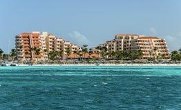 Palm Beach i Aruba Arkivfoton