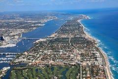 Palm Beach i piosenkarza wyspa, Floryda Zdjęcie Royalty Free