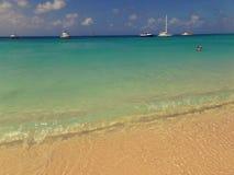 Palm Beach lateral da praia em Aruba fotografia de stock