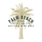 Palm beach logo template Stock Images