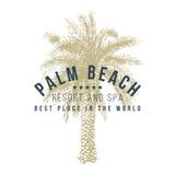 Palm Beach logomall stock illustrationer