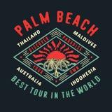 PALM BEACH NAJLEPSZY wycieczka turysyczna W świacie Ilustracji