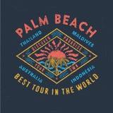 PALM BEACH NAJLEPSZY wycieczka turysyczna W świacie Ilustracja Wektor
