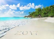 Palm Beach perfecta Anse Georgette en la isla de Praslin, Seychelles Fotografía de archivo