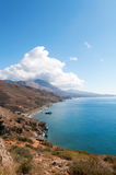 Palm beach in Preveli Royalty Free Stock Images