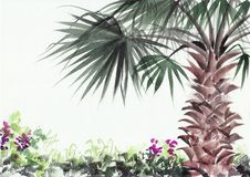 Palm beach resort Stock Image