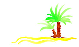 Palm beach sand island travel background. Royalty Free Stock Photography