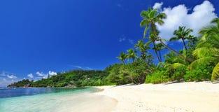 Palm beach , Seychelles Stock Photography
