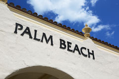 Palm Beach sign on wall of a building Stock Photo
