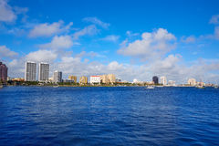 Palm Beach skyline Florida US Stock Photography