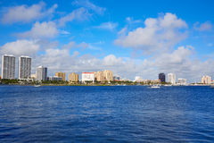 Palm Beach skyline Florida US Royalty Free Stock Photography