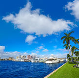 Palm Beach skyline  royal Park bridge Florida Stock Photography
