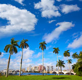 Palm Beach skyline  royal Park bridge Florida Stock Photos