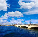 Palm Beach skyline  royal Park bridge Florida Royalty Free Stock Image