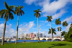 Palm Beach skyline  royal Park bridge Florida Stock Image