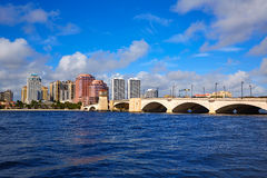 Palm Beach skyline  royal Park bridge Florida Stock Photo