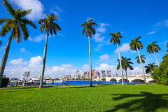 Palm Beach skyline  royal Park bridge Florida Royalty Free Stock Photo