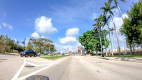 Palm Beach streets on a beautiful sunny day, Florida.  Royalty Free Stock Photos