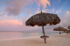 Palm Beach Sunrise, Aruba Stock Photos