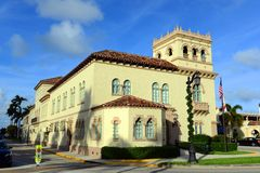 Palm Beach Town Hall, Florida Royalty Free Stock Image