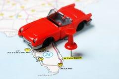 Palm Beach  USA map auto Royalty Free Stock Photography