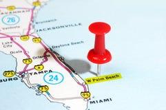 Palm Beach usa mapa obraz stock