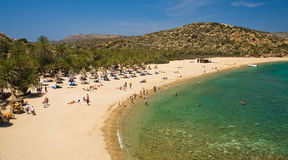Palm Beach Vai on Crete, Greece Royalty Free Stock Image